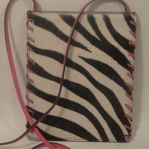 THE LIMITED Zebra Pattern Leather Crossbody bag